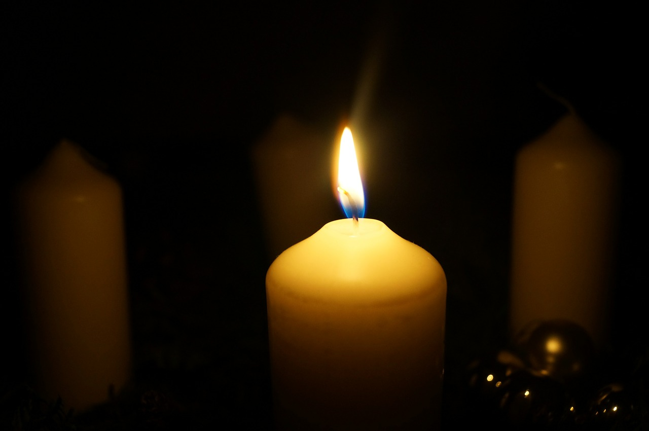 A Candle in the Darkness Courtesy Pixabay.com