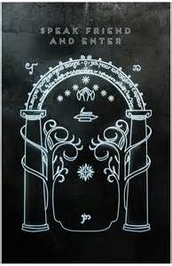 The Door to the Mines of Moria Used Under Fair Use Copyright Provision, from Pinterest Post