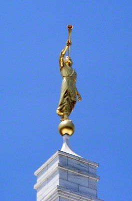 The Angel Moroni, Raleigh NC Temple Courtesy lds.org